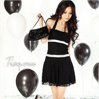 Buy Tian Mu Lace Halter Dress 1022938324