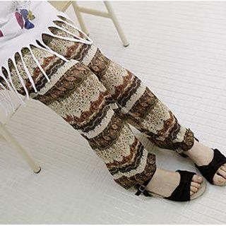 Buy Sechuna Mixed Print Chiffon Pants 1022897677