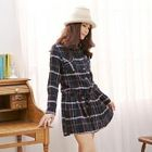 Dual-Pocket Plaid Dress 1596