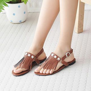 Picture of KAWO Fringed Sandals 1022902528 (Sandals, KAWO Shoes, China Shoes, Womens Shoes, Womens Sandals)
