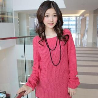 Picture of CLICK Rib-Knit Sweater Dress 1021968513 (CLICK Dresses, Womens Dresses, South Korea Dresses, Sweater Dresses)