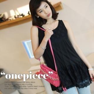 Buy VIVIDRESS Lace Layered Sleeveless Minidress 1022749636