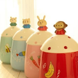 Cartoon Glass Cup with Lid 1059571170