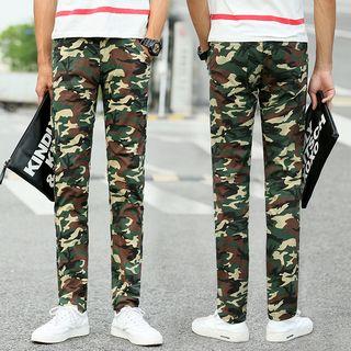 Camo Slim Fit Pants
