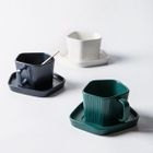 Pentagon Coffee Cup with Saucer 1596