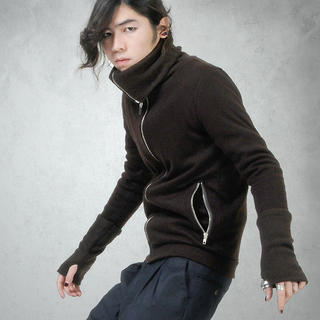 Picture of deepstyle Turtleneck Jacket with Thumb Hole 1021581886 (deepstyle, Mens Knits, Korea)