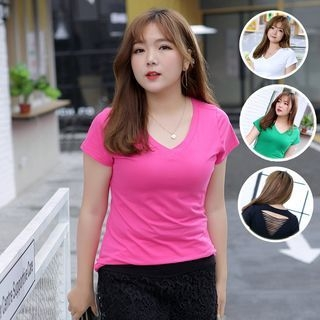 Short-Sleeve V-Neck T-Shirt 1059826178