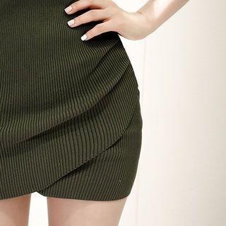 Short-Sleeve Ribbed Mini Dress 1058437837