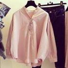 Plain Split Neck Shirt 1596