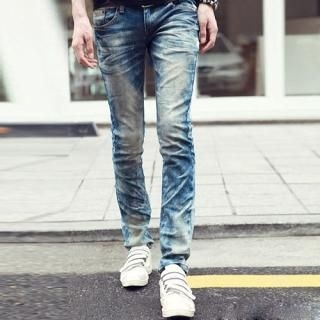 Buy JBROS Washed Slim-Fit Jeans 1022960361