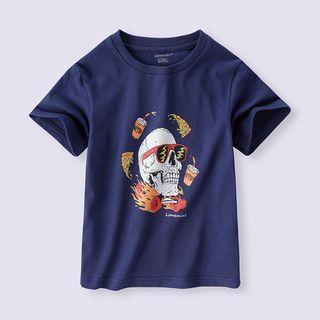 Short-sleeve   T-Shirt   Skull   Print   Kid