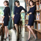 Elbow-Sleeve Sheath Dress 1596