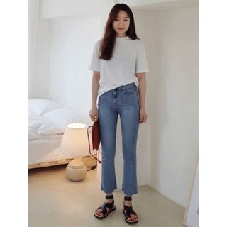 Washed Boot-Cut Jeans 1065903265