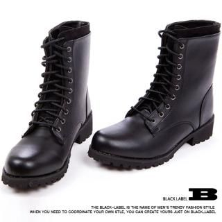 Picture of Style Impact Faux Leather Combat Boots 1022794889 (Boots, Style Impact Shoes, Korea Shoes, Mens Shoes, Mens Boots)