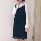 Set: Long-Sleeve T-Shirt + Strappy A-Line Dress 1596
