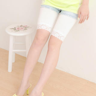 Buy 59 Seconds Lace Trim Leggings White – One size 1020606852