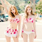 Set: Corsage Bikini Top + Swimskirt 1596