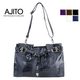 Buy AJITO Croc-Grain Shoulder Bag 1022417615