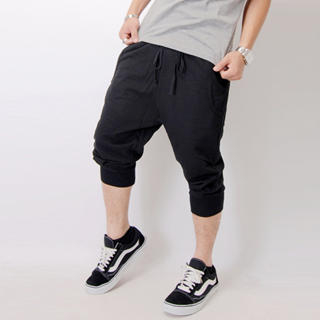 Buy SLOWTOWN Cropped Drop-Crotch Sweatpants 1022963485