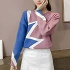 Color-Block Knit Top 1596