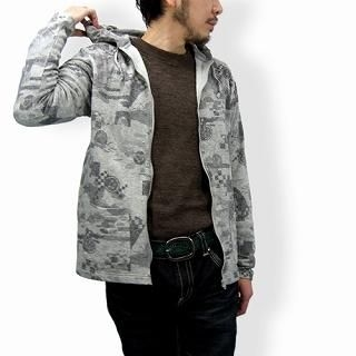 Picture of TOKYO LOCAL BAZAAR Patterned Hoodie - Classic Japanese Motif 1014451924 (TOKYO LOCAL BAZAAR, Mens Tees, Japan)