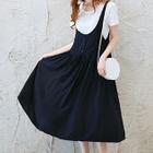 Maternity Set : Short-Sleeve T-shirt + Strappy Dress 1596