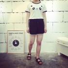 Contrast Trim Shorts 1596