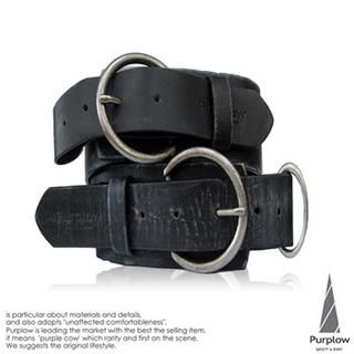 Buy Purplow double Ring Genuine Leather Belt 1004802267
