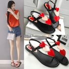 Heart Applique Sandals 1596