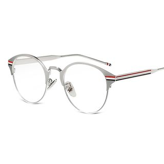 Metallic Round Computer Glasses 1055604805