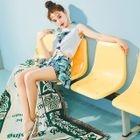 Set: Printed Bikini + Skirt + Top 1596
