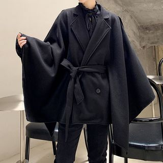 Image of Buttoned Coat Black - One Size