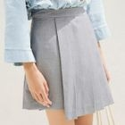 Layered Plain A-Line Skirt 1596