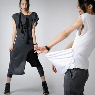 Buy deepstyle Asymmetric Hem Tee Shirt 1022807892