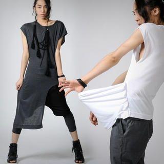Buy deepstyle Asymmetric Hem Tee Shirt 1022807892