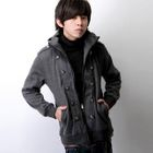 Button-Accent Hooded Zip Jacket от YesStyle.com INT