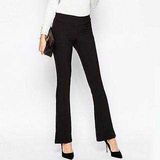 Plain Boot-cut Pants 1050012635