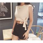 Ribbed Knit Sleeveless Crop Top 1596