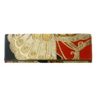 Picture of Liucia Japan Gold Kiku .1 Wristlet Obi Clutch 1021479055 (Liucia Japan, Clutches, Hongkong Bags, Womens Bags, Womens Clutches)