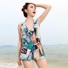 Set: Patterned Bikini Set + Playsuit 1596