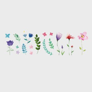 Floral Waterproof Temporary Tattoo