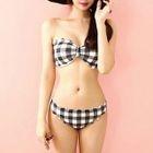Plaid Bandeau Bikini 1596