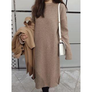 Round-Neck Ribbed Knit Dress 1063723688
