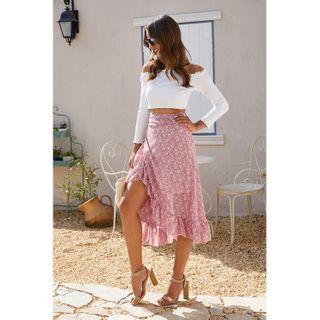 Chiffon | Ruffle | Floral | Skirt | Wrap