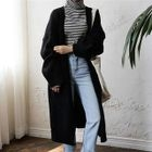 Open-Front Long Cardigan 1596