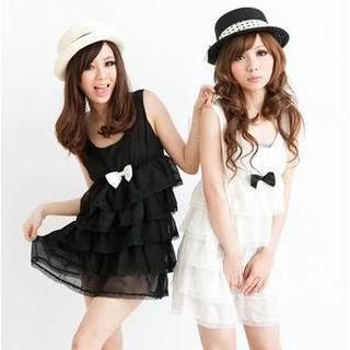"""Buy ZOO Sleeveless """"Bow"""" Layered Chiffon Dress 1022893199"""