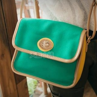 Twist-Lock Color-Block Cross Bag