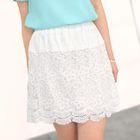 Crochet Panel A-Line Skirt 1596