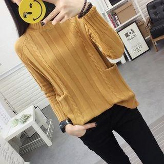 Mock Neck Ribbed Sweater 1061603508