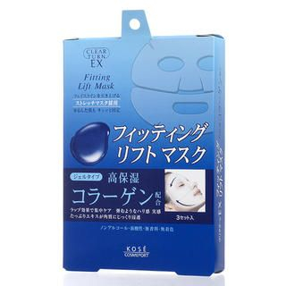Kose - Clear Turn EX Fitting Lift Mask - Collagen (Blue) 3 pairs